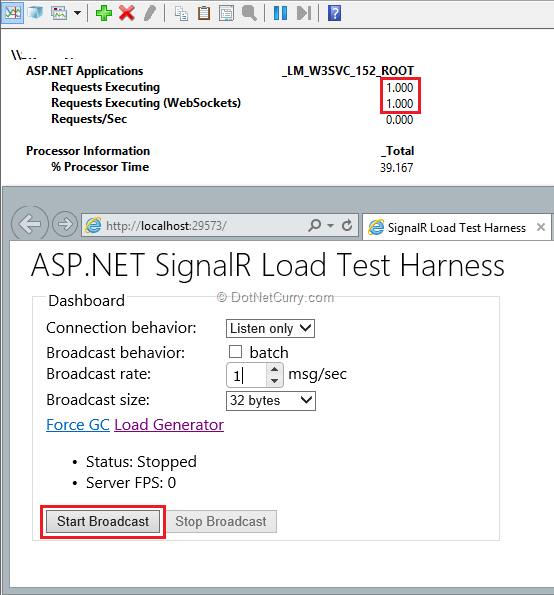 Monitoring performance of SignalR Applications | DotNetCurry