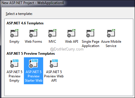 aspnet-new-project