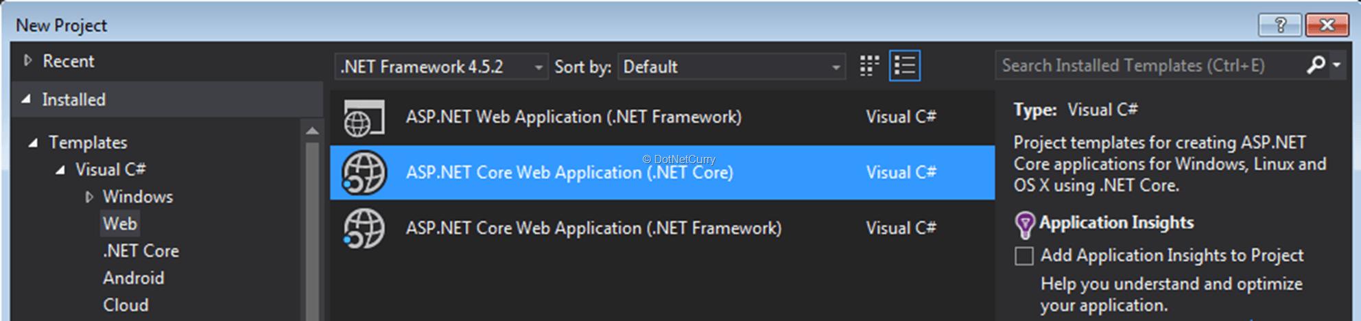 aspnet-core-project-type