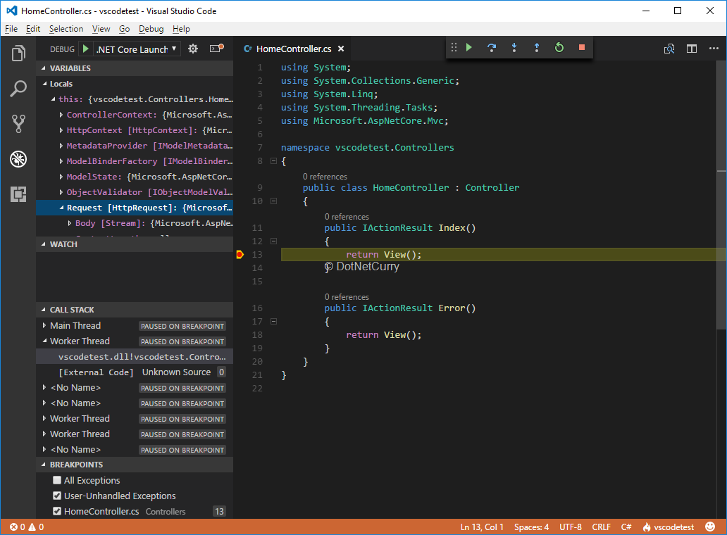 Debugging ASP NET Core SPA in Visual Studio Code | DotNetCurry