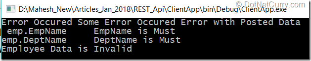 ASP NET Web API, RestSharp and Model Error Messages