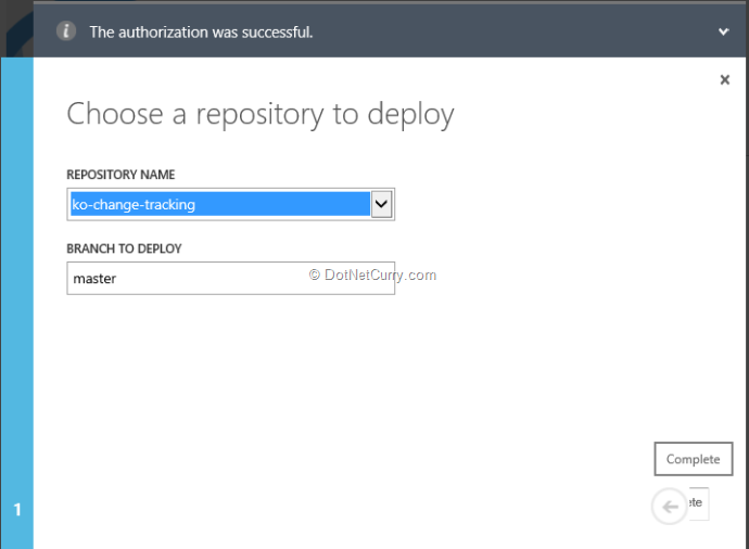 select-repository-to-deploy