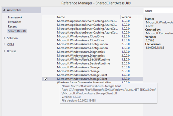 add-reference-to-azure-storage-client