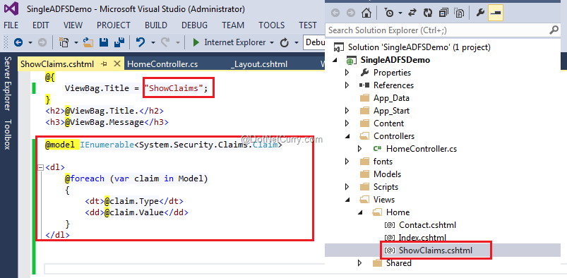 Using ADFS with Azure for Single Sign-On in ASP NET MVC | DotNetCurry