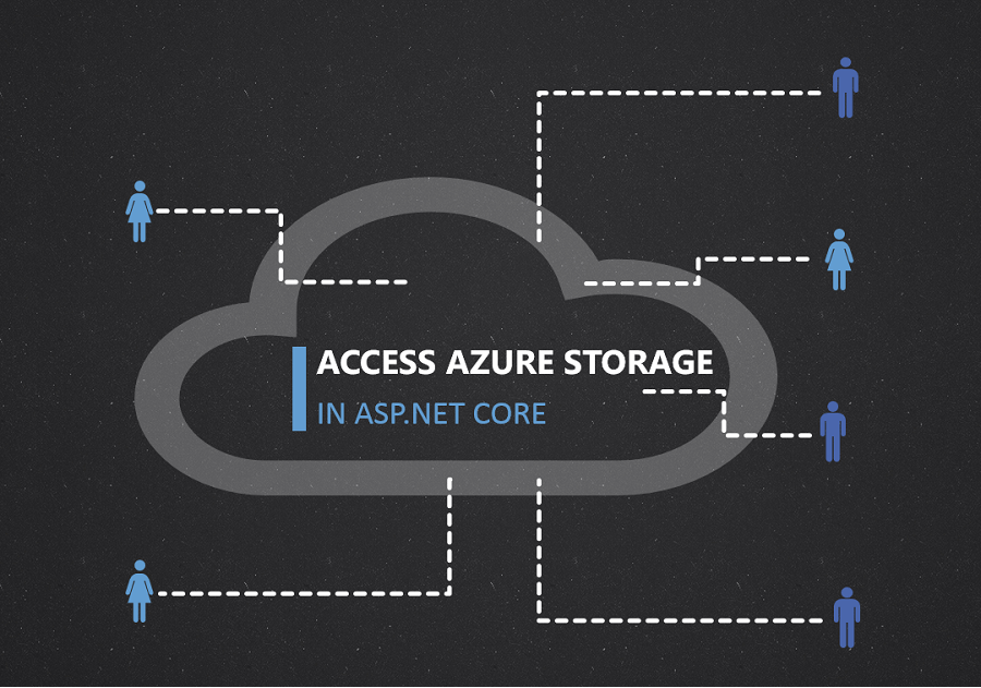 Access Azure Storage in an ASP NET Core application using Connected