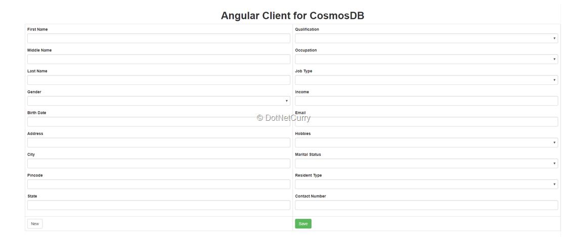 angular-client-cosmosdb-form