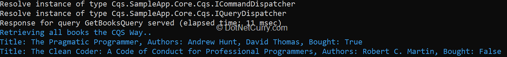console-output-with-cqs-queryhandler