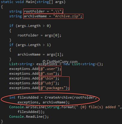 Zip Archives in C# 5 0 ( NET 4 5) | DotNetCurry