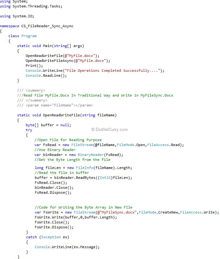 Asynchronous Programming using C# 4 5 and Visual Studio 2011
