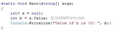 C# Nullable Type