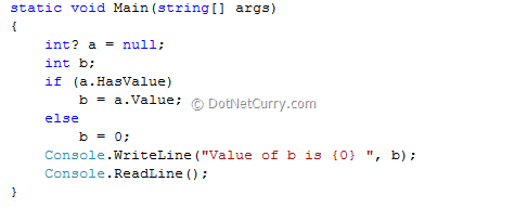 C# Nullable to Non-nullable