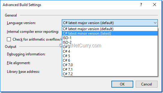 change-csharp-language-version