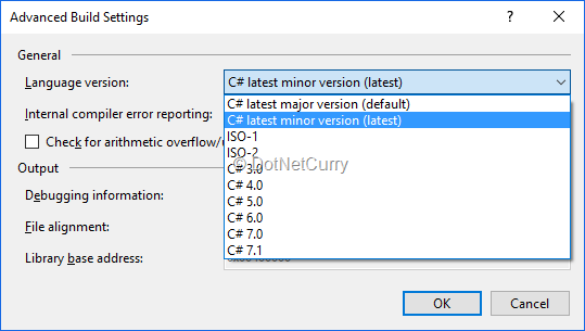c# switch case default