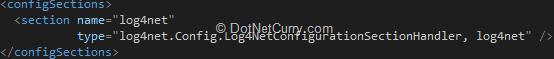log4net-config-declaration