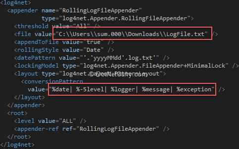 log4net-config