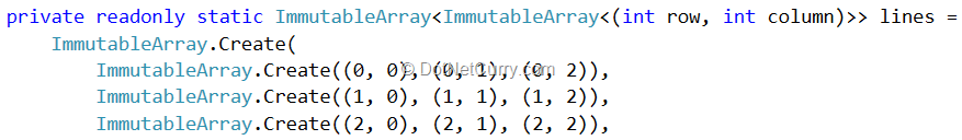 immutable-array-lines