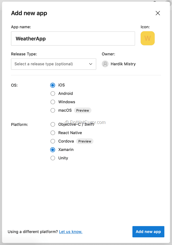 appcenter-add-new-options