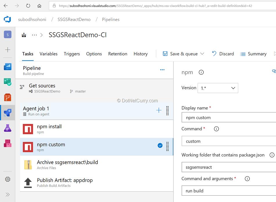 npm-tasks-under-build-pipeline