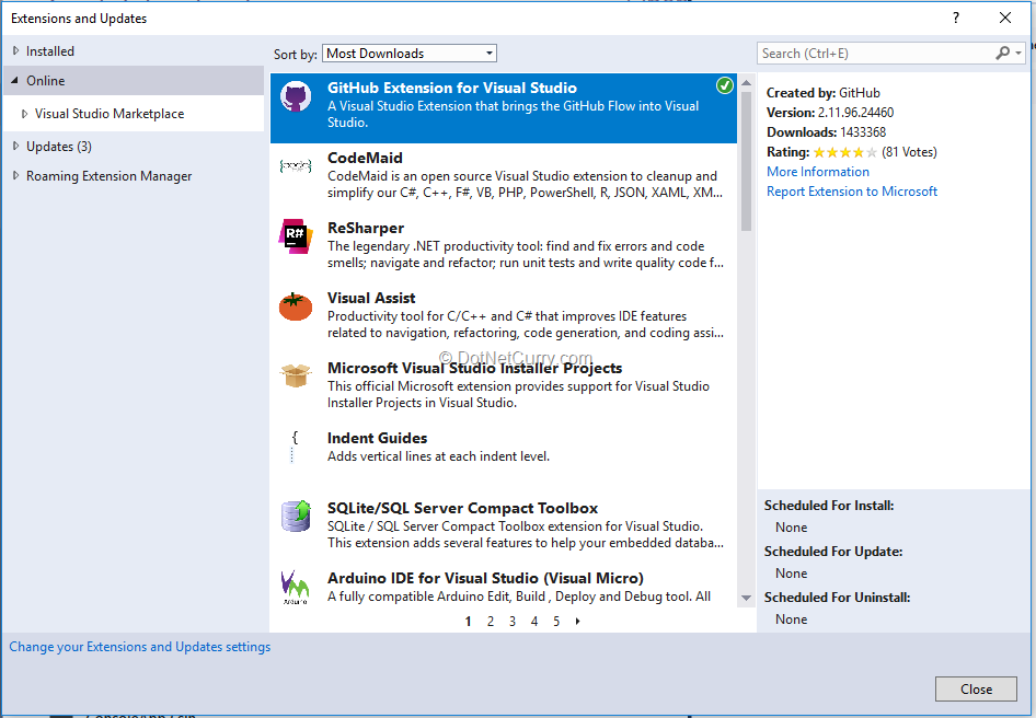 add-github-extension-in-visual-studio