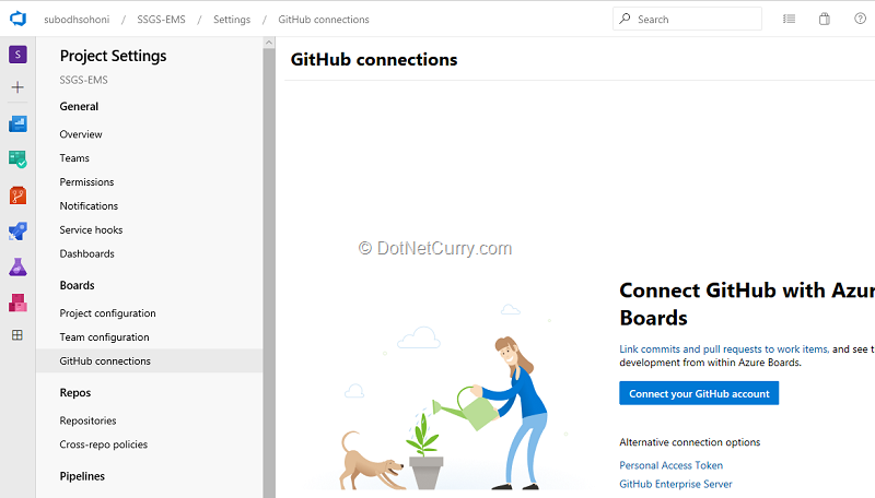 connect-github-to-azure-boards