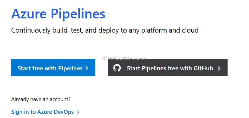 start-free-azure-pipelines