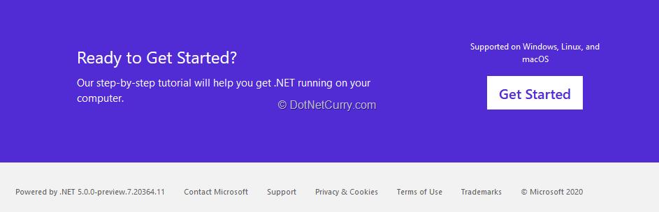 dotnet-website-running-on-dotnet-5