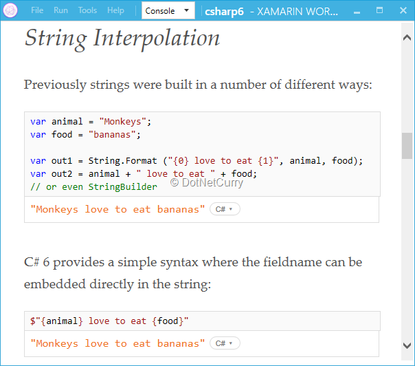 cssharp-6-workbook-in-xamarin-workbooks