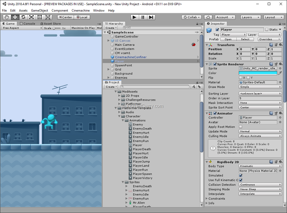 unity-editor-main-window