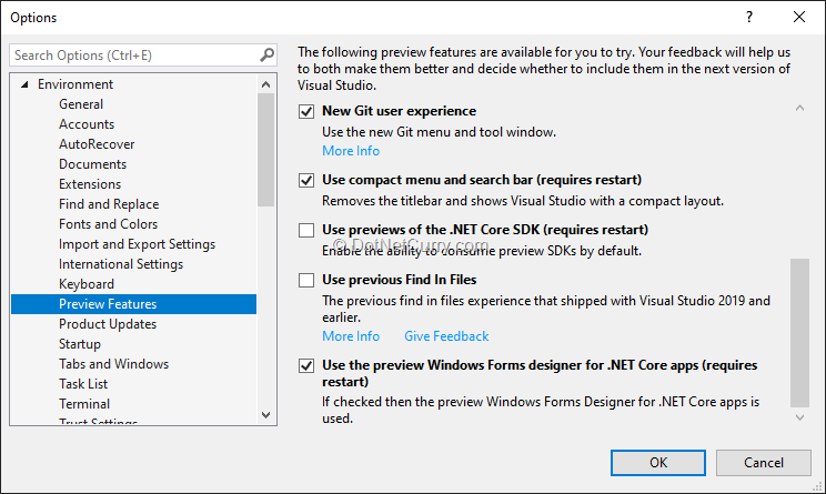 visual-studio-2019-preview-features