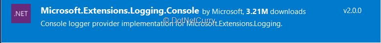 add-nuget-ms-logging-console