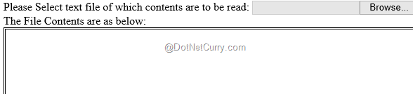 Read a Local File using HTML5 and JavaScript | DotNetCurry