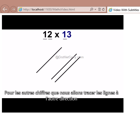 Html5 video with subtitles dotnetcurry lets first add a text file with the extension ml into our media folder i have named it as mathtricksubtitle2enml ccuart
