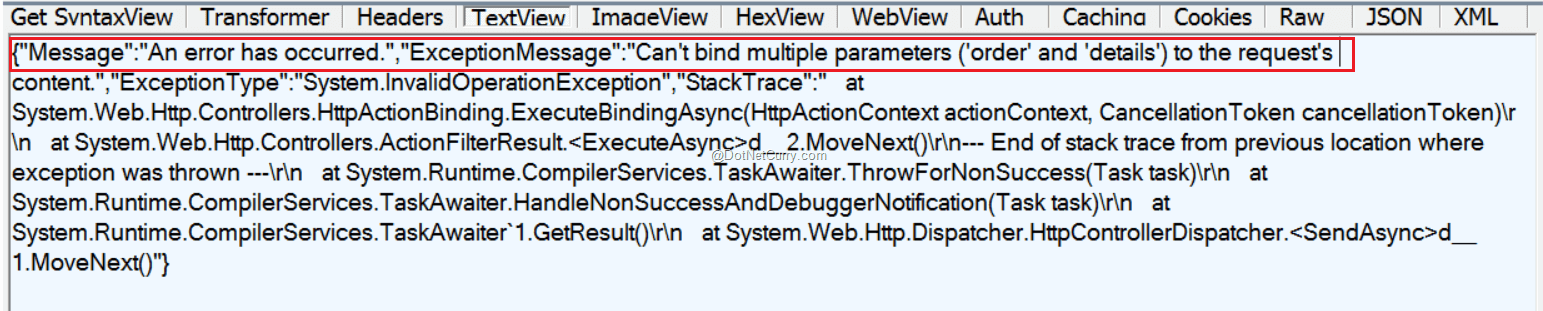 ASP NET Web API: Passing Multiple Objects as an Input