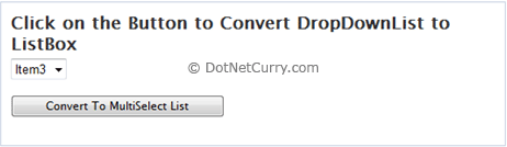 DDL Button Click