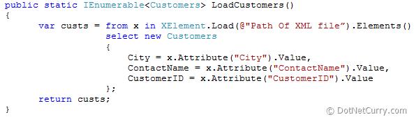 Load XML file