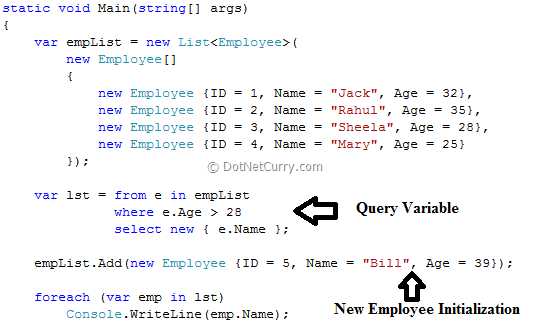 Deferred vs Immediate Query Execution in LINQ | DotNetCurry