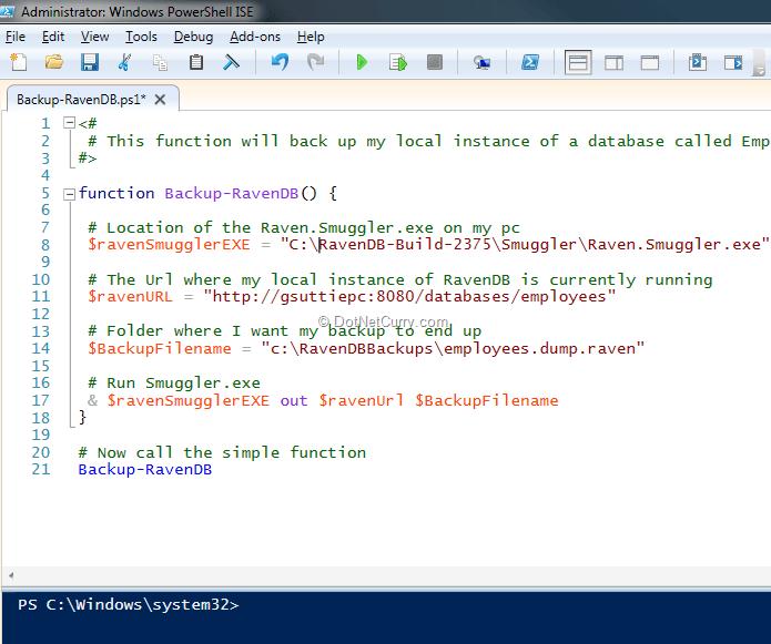 Automate Backups using PowerShell | DotNetCurry