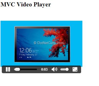 mvc-html5-play-video