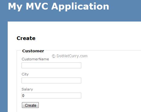 Create New Customer