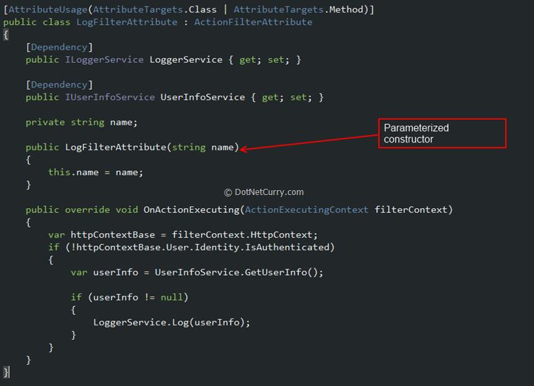 log-parameter-constructor