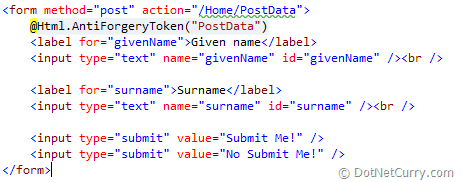 mvc-sample-form