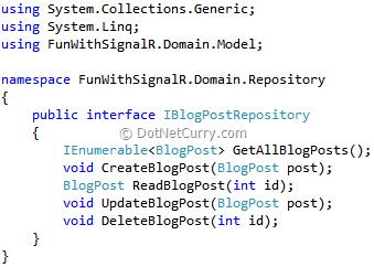 iblogpostrepository-interface-code