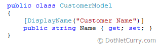 mvc display name attribute