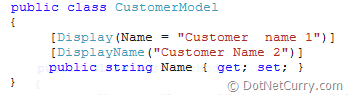 mvc display & display name attribute