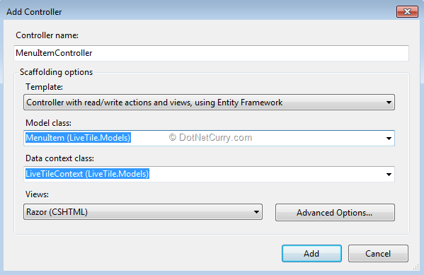 Dynamic Menus in ASP NET MVC 4 using EF Code First and