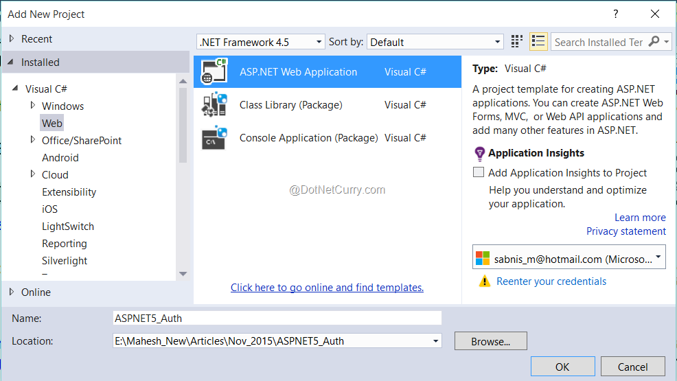 create-aspnet-project