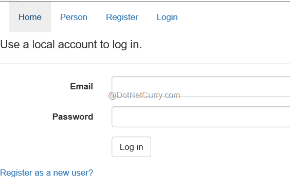 Implementing User Authentication in ASP NET MVC 6 | DotNetCurry