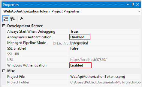 setting-windows-authentication-in-project