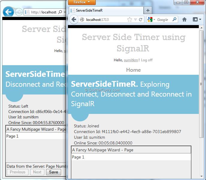 Server Side Timer in an ASP NET MVC application using