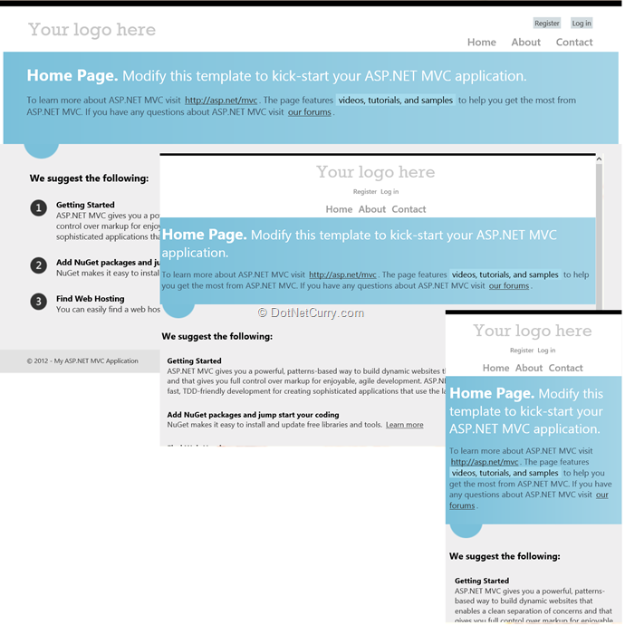 Twitter bootstrap and asp net mvc building a responsive for Aspx login page template